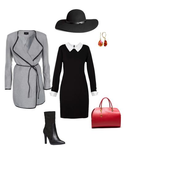 jarný alebo jesenný outfit do práce