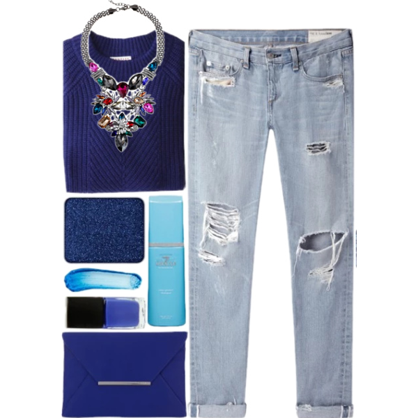 Blue set outfit