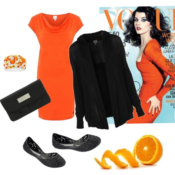 V barve pomerancu.