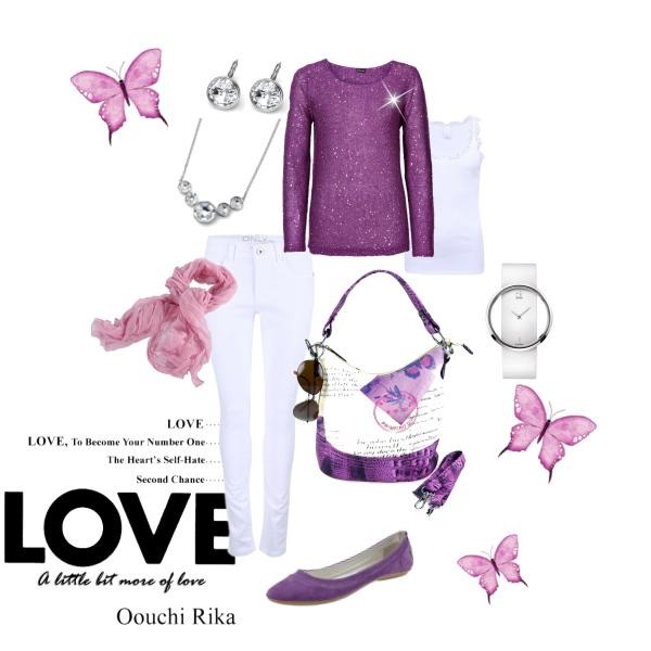 Jarní fialová romantika
