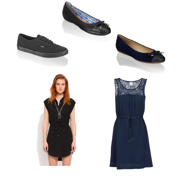 dress and sneakers - no problme with comfort