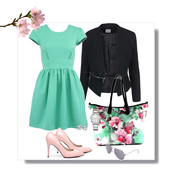 Mint, pink and black