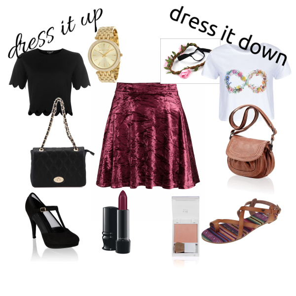 dress it up, dress it down - skater skirt