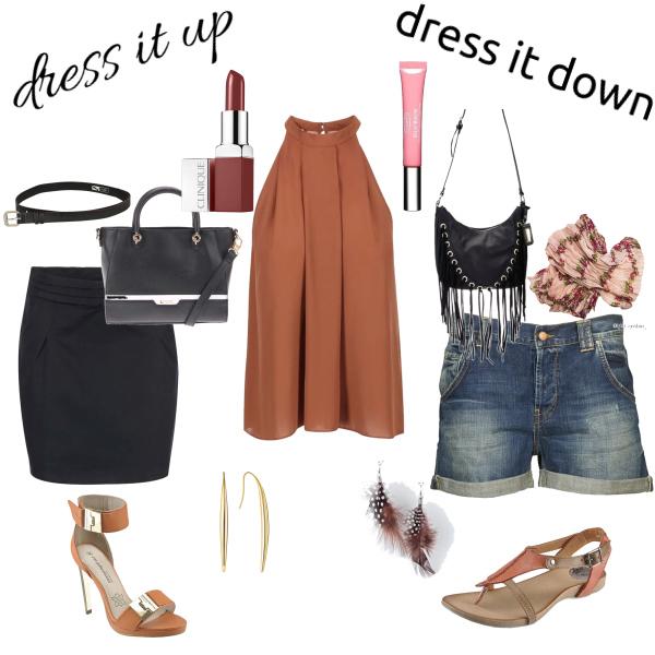 dress it up, dress it down - flowy top