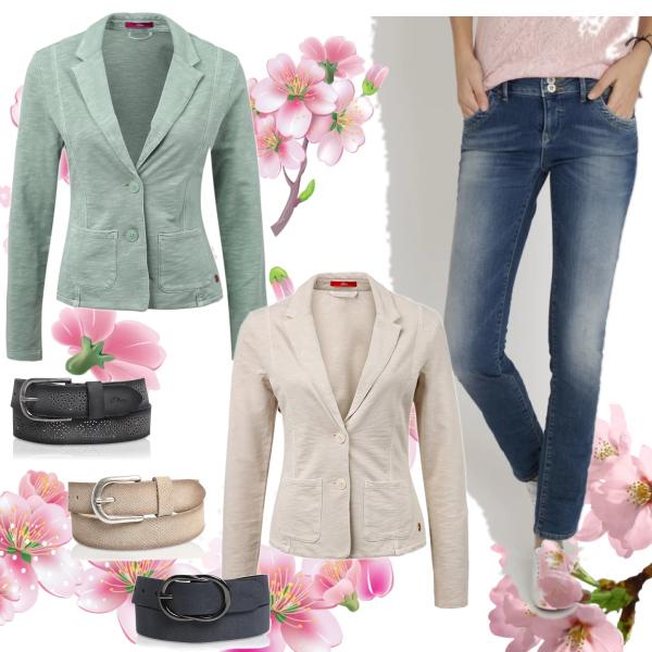 Jarní kolekce - bavlněný blazer a džíny nesmí ve vašem šatníku chybět