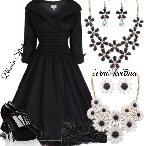 černá květina