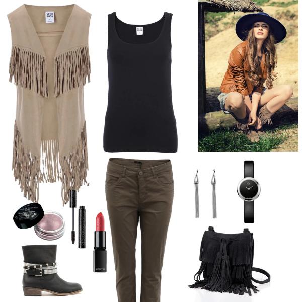 Western styl - třásně