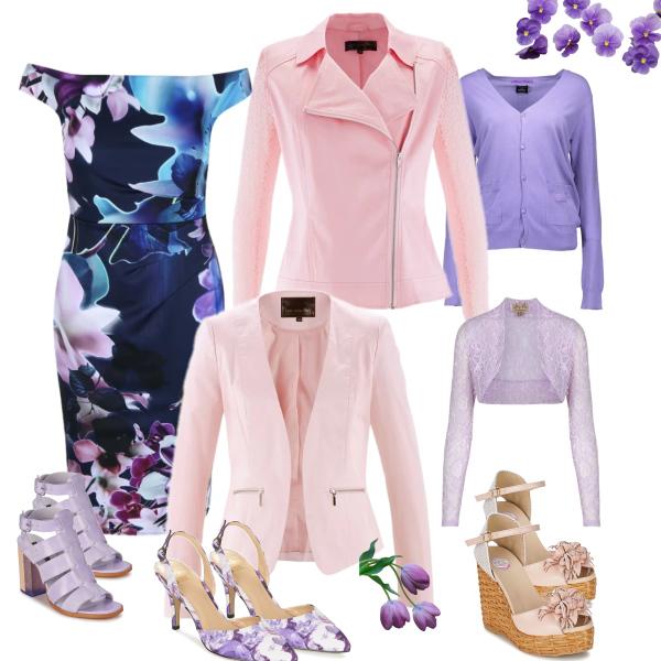 kombinace fialové