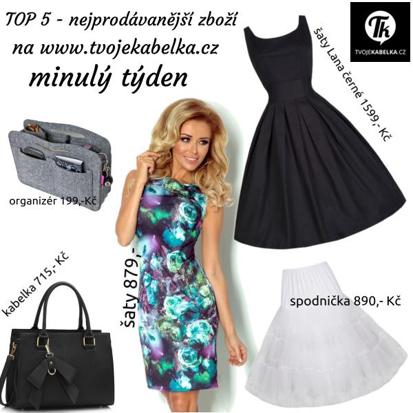 Nejprodávanější zboží na www.tvojekabelka.cz minulý týden