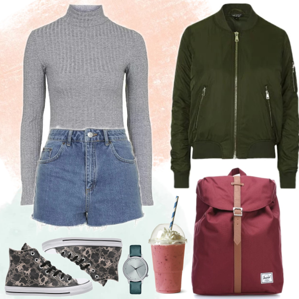 School time! Bomber outfit