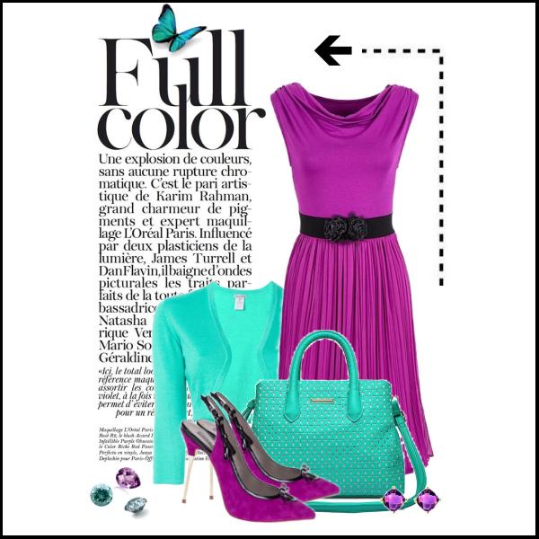 Spojení výrazných barev