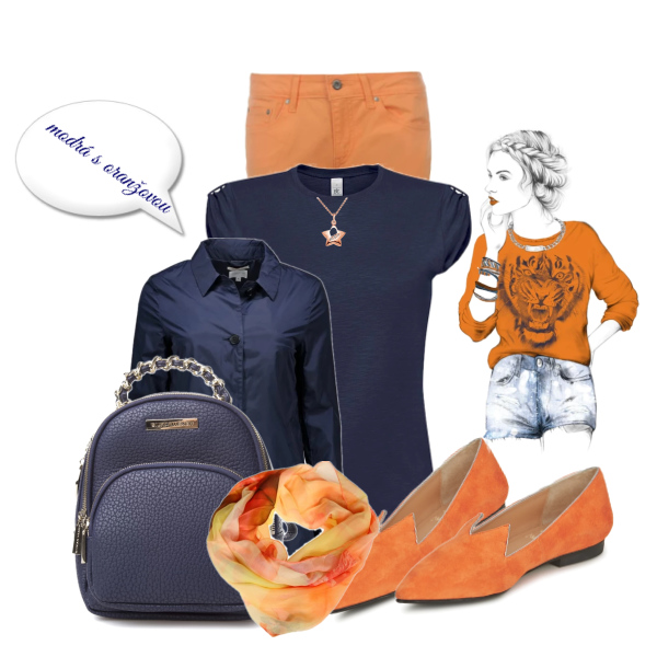 modrá a oranžová