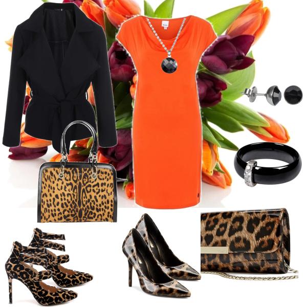 oranžová kombinace