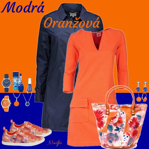 modrá oranžová