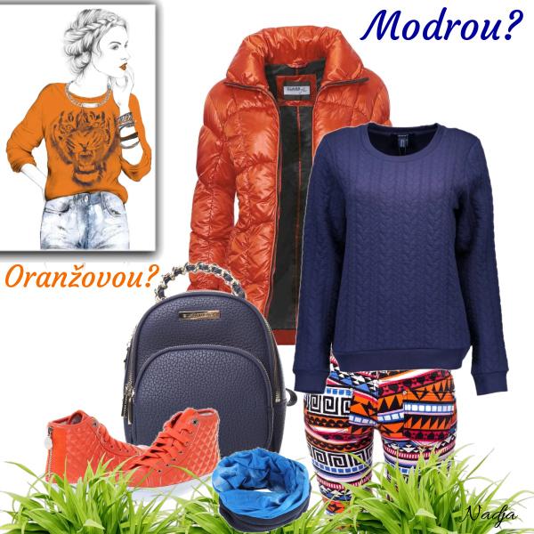 oranžová nebo modrá?