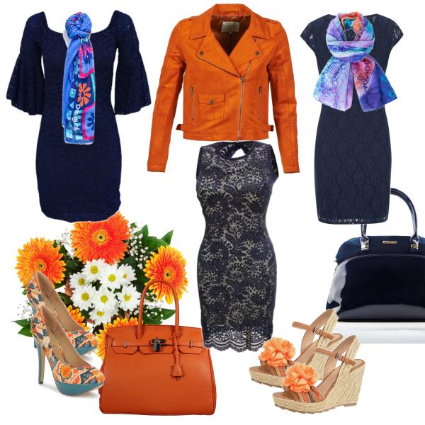 oranžovo modrá