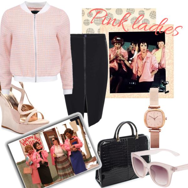 Pink ladies Bumper jacket set
