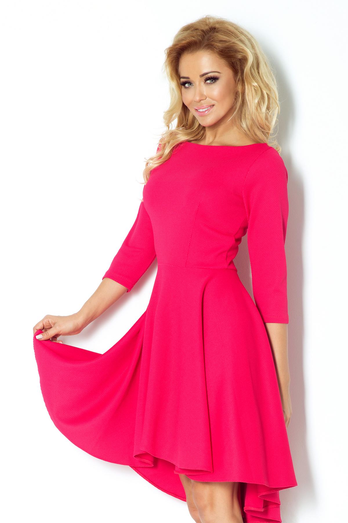 Dámské společenské šaty NUMOCO s asymetrickou sukní malinové - Glami.cz 12037a4349
