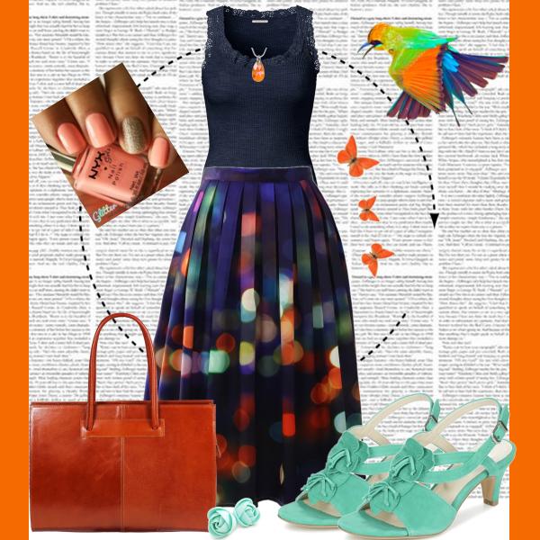 Modro oranžový set