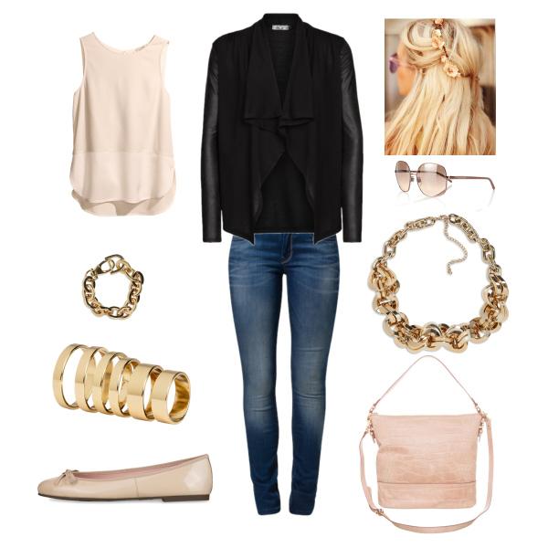 Puder-Leder Outfit