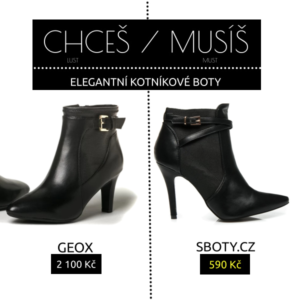 Elegantní kotníkové boty