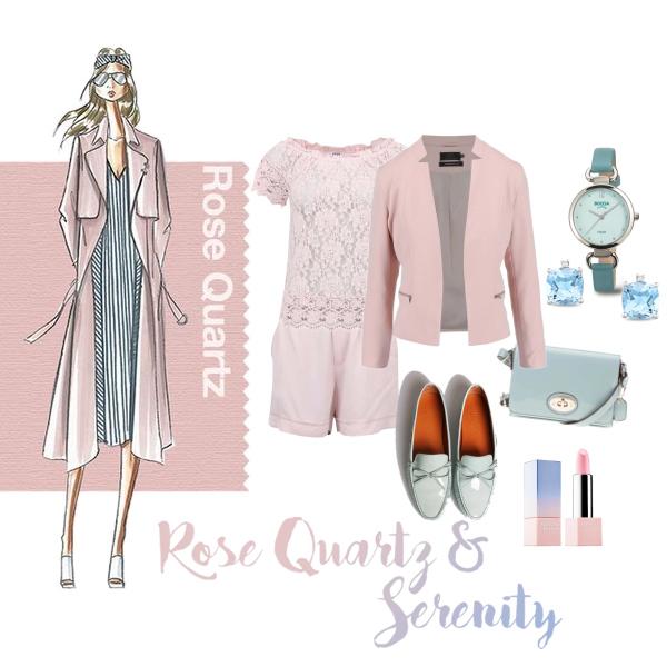 Rose Quartz a Serenity Blue