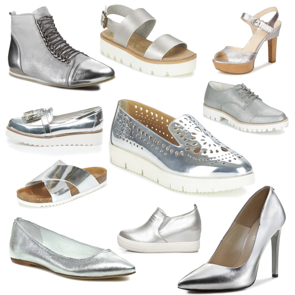 Trendy silver shoes