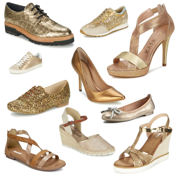 Trendy gold shoes