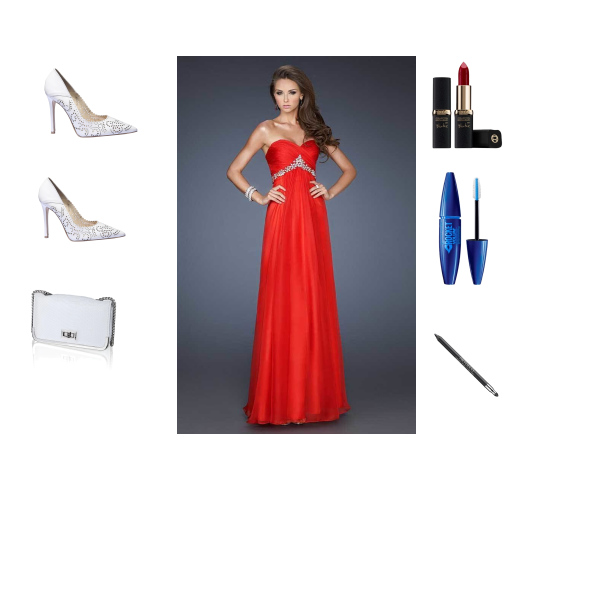 fashion red long prom dresses