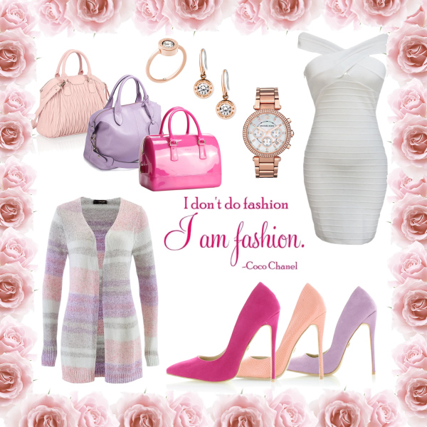 nude/pink/violet outfits