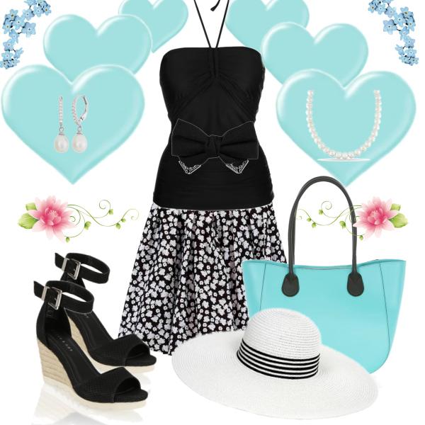 tyrkysový outfit