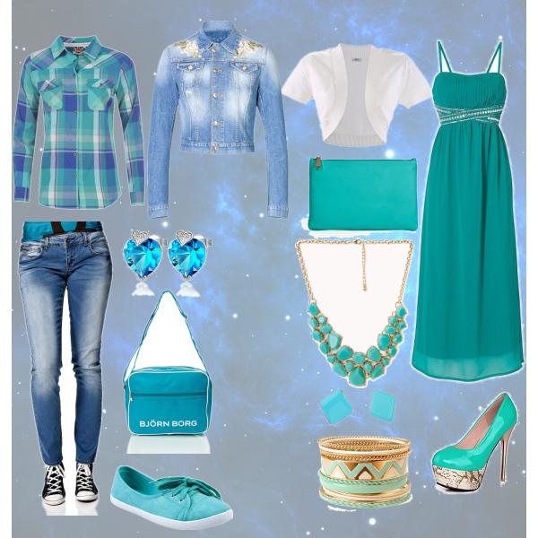 Green blue set