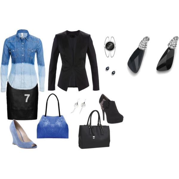 Černá a modrá na dvě varianty