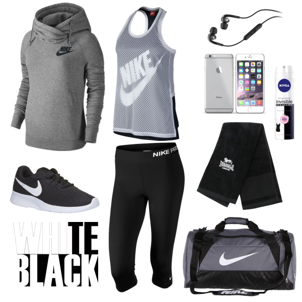 black and white fitness set