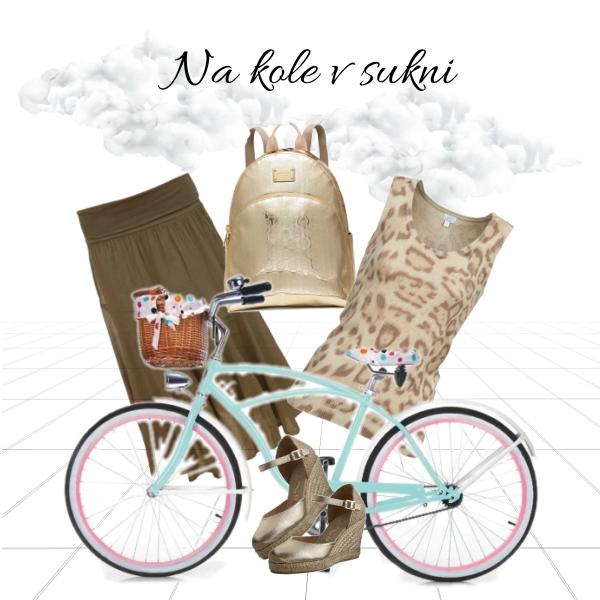 Na kole v sukni