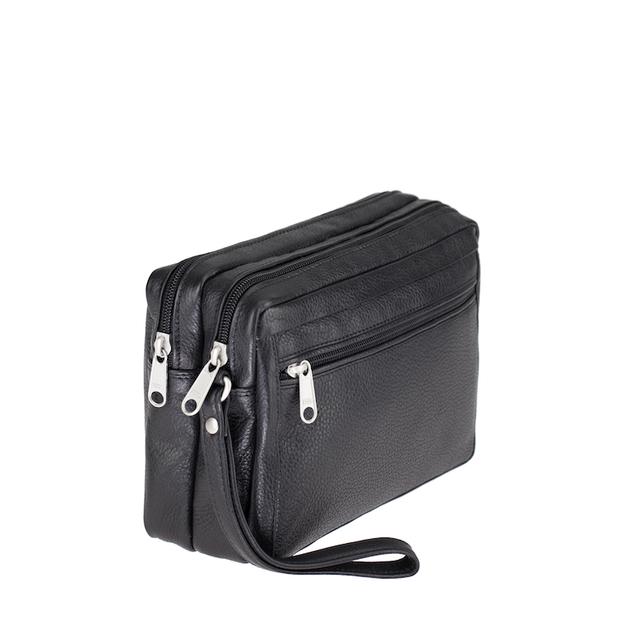 f2c1a5af63 ESTELLE Kožená taška na doklady 8011 černá - Glami.cz