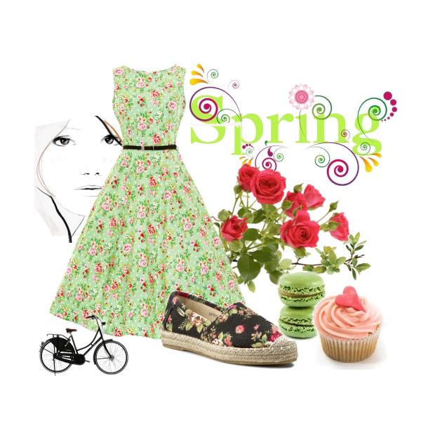 Spring retro bike