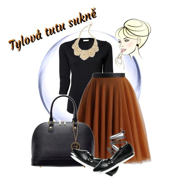 Tylová tutu sukně