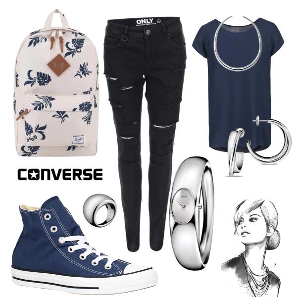 tmavě modrá s converse