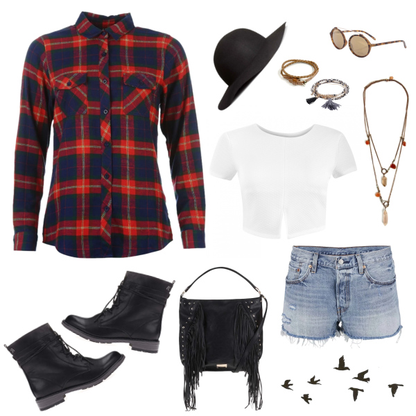 Flanel shirt outfit