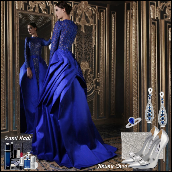 Na červený koberec v královské modři