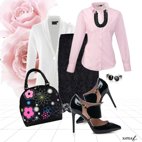 černá-bílá-růžová