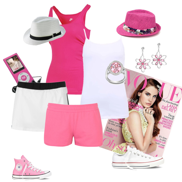 Pink & white summer style