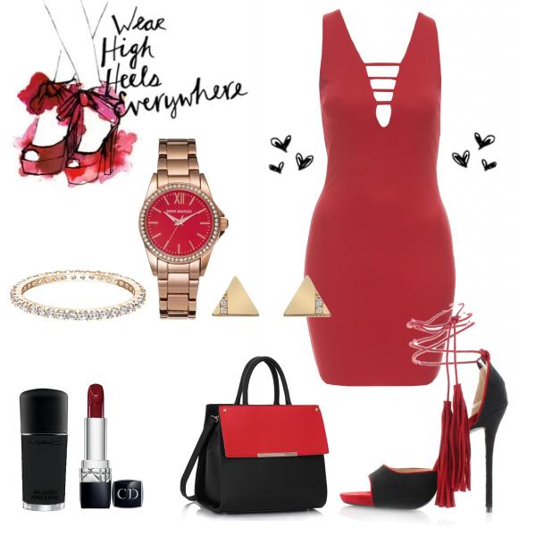 Wear high heels everywhere!