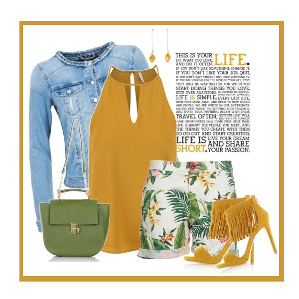 žlutá v létě