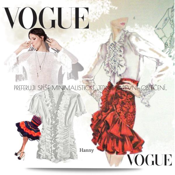 Preferuji spíše minimalistické jednoduché oblečení:-)taková jsem já:-)