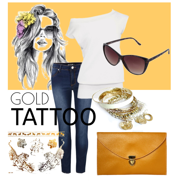 GOLD TATTOO OUTFIT