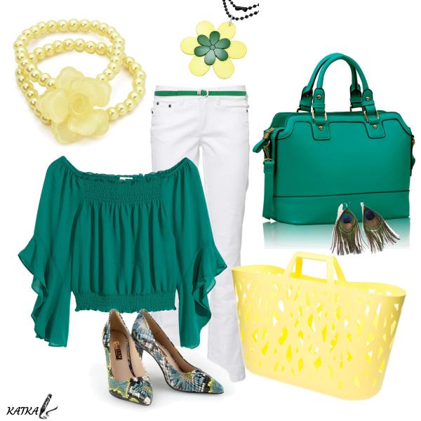 žlutá nebo zelená