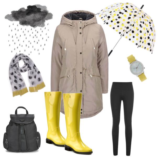 Puntíky v dešti