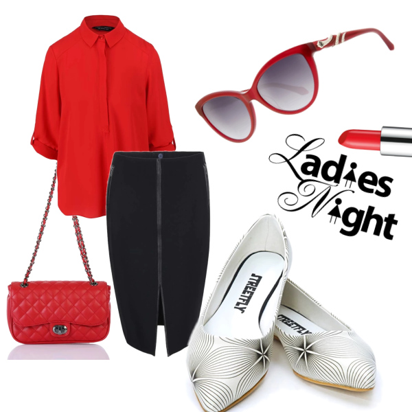 red office/party look